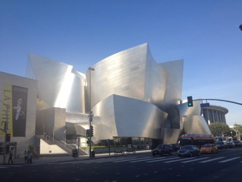 Disney Hall by Frank Gretry Titanium Home of the LA Philharmonia