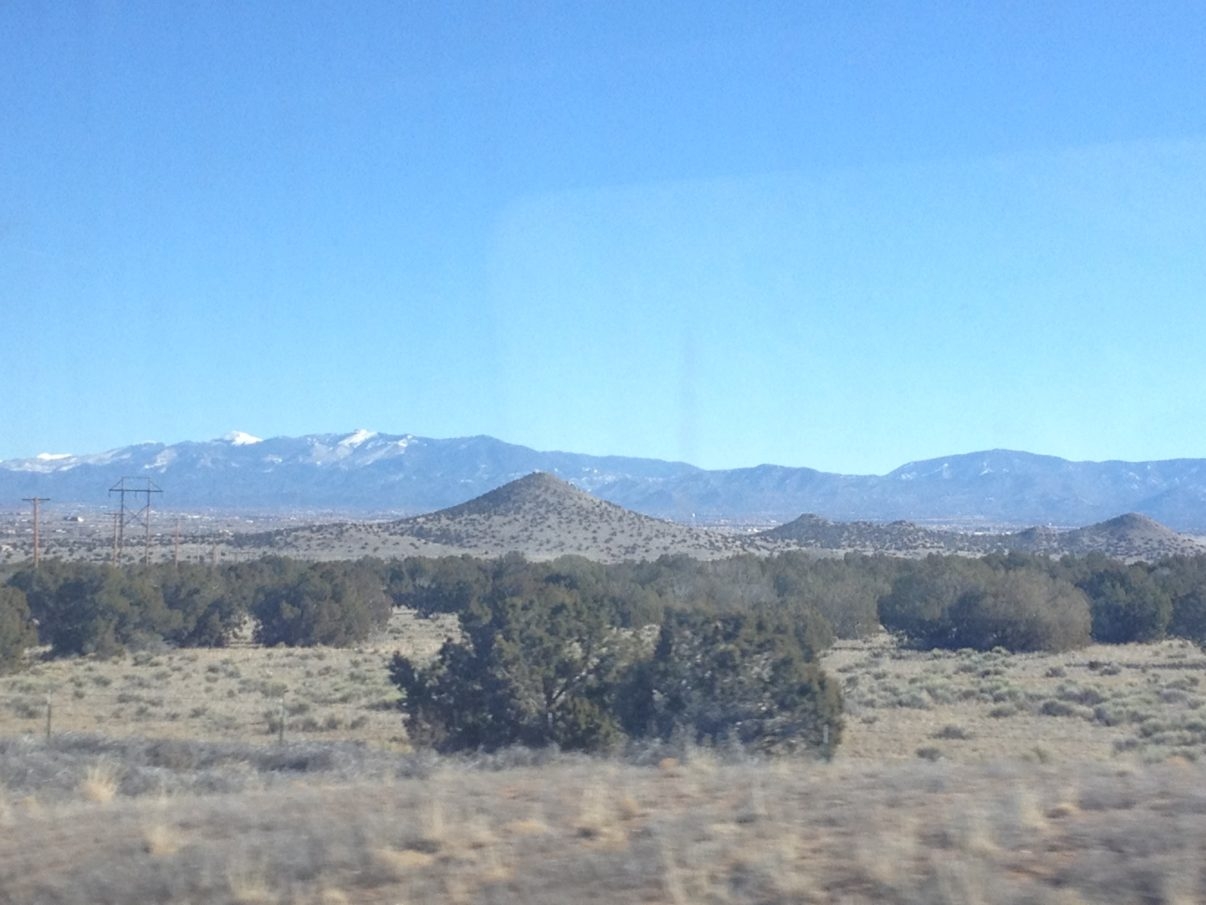 Winter blue skies of New Mexico